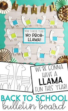 Create a fun back to school llama bulletin board while encouraging students to reflect on how they can have a great year. Product includes a no prep version as well as a craftivity version if your students are up for a little cutting and gluing. Dorm Bulletin Boards, Nurse Bulletin Board, Counseling Bulletin Boards, Elementary Bulletin Boards, Back To School Bulletin Boards, Preschool Bulletin Boards, Classroom Bulletin Boards, School Counseling, School Classroom