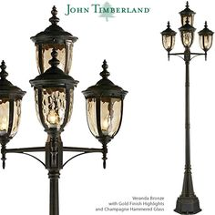 John Timberland Bellagio Carriage Style Street Lanterns Led Path Lights, Outdoor Hanging Lights, Outdoor Post Lights, Outdoor Wall Lighting, Outdoor Walls, Wall Lights, Landscape Lighting Kits, Glass Material, Candelabra