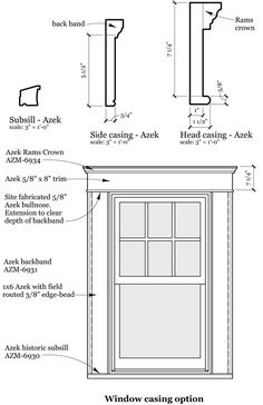 Best Ideas For Exterior Window Casing Architecture Door Molding, Moldings And Trim, Moulding, Crown Molding, Window Casing, Door Casing, Craftsman Window Trim, Interior Window Trim, English Cottage