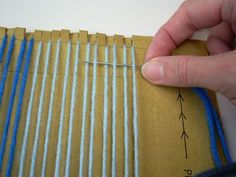 How to Weave on a Cardboard Loom (made from a cardboard shipping envelope)