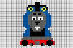 Thomas and Friends Pixel Art from BrikBook.com #ThomasandFriends #Thomas…