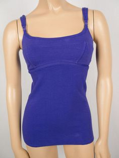 LULULEMON Purple Sleeveless Shirt 4 S Run Walk Top Pilates Adjustable Straps