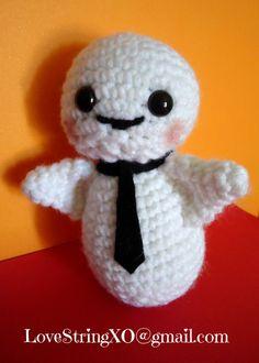 Kawaii Ghost Boo Amigurumi Crochet Doll / Handmade Gift for Valentine / Couples Gift. $23.00, via Etsy.