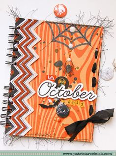 Halloween Mini Album and Grateful Layout