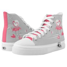 #pink - #Flamingo Love Side high top shoes hot pink