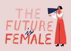 The Future is Female feminist illustration↝ Feminist Af, Feminist Quotes, Feminist Apparel, Refugees, Illustration Photo, London Illustration, Design Illustrations, Ex Machina, Destiny's Child