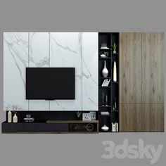 models: Other - TV shelf 07 Living Room Units, Ikea Living Room, Modern Tv Cabinet, Modern Tv Wall Units, Tv Wall Design, Hall Design, Interior Design Living Room, Living Room Designs, Best Wardrobe Designs