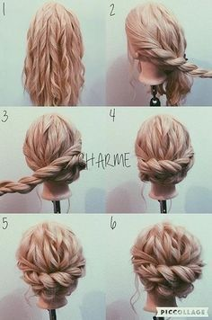 braided bun hair tutorial: the most beautiful tutorials and photos - Best Newest Hairstyle Tr. braided bun hair tutorial: the most beautiful tutorials and photos - Best Newest Hairstyle Trends, Prom Hairstyles For Long Hair, Side Hairstyles, Box Braids Hairstyles, Braids For Long Hair, Trendy Hairstyles, Hair Updo, Bridesmaid Hairstyles, Hair Buns, Spring Hairstyles