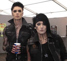 Andy Biersack and Ashley Purdy.