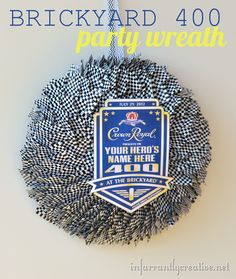 Get ready for the Brickyard 400 with this super simple NASCAR wreath made from toothpicks!