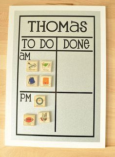 Morning and Night Chore Chart: A picture chart ($28) makes it easier for little ones to keep track of their daily tasks.
