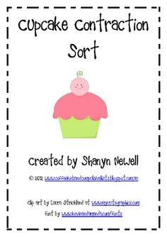 FREE Cupcake Contraction Sort - I've got it and LOVE!