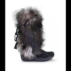 Tecnica  yaghi boots These beautiful tecnica yaghi boots are made with silver fox and pony they are brand-new size 7. You can also wear the shoes if you were a size 6 or 6 1/2 Tecnica Shoes