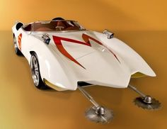 I had two Speed Racer dreams...to be the first girl to pilot the Mach 5, and also to marry him.  Trixie was a bit of an obstacle, so I was always willing to settle for Racer X.  Spritle annoyed me too, I didn't need him stowing away in my trunk with his chimpanzee.