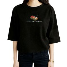 2015 summer new fashion Japanese sushi cartoon cute printed o-neck short sleeve women t-shirt free shipping  #cute #fashion #model #stylish #beauty #purse #outfitoftheday #jewelry #makeup #beautiful #hair #style #jennifiers #styles #outfit
