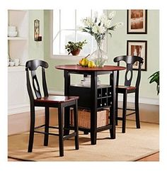 Bon This Rwanda Bistro Set Is A Perfect Dining And Seating Solution For Your  Living Space. This Furniture Set Includes A Table And Two Chairs That  Showcase A ...
