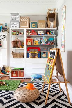 Bright and colourful play room