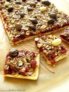 Dessert Bars, Vegetable Pizza, Waffles, Food And Drink, Gluten Free, Tasty, Sweets, Brownies, Baking