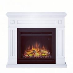 Austin - Seminee electrice si focare electrice TAGU Home page Electric Fires, Electric Stove, Wood Fireplace Mantel, Fluted Columns, Electric Fireplace, Wood Veneer, Pure White, Pure Products, Lush