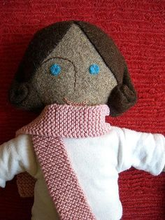 felt. love the dolly and her scarf!