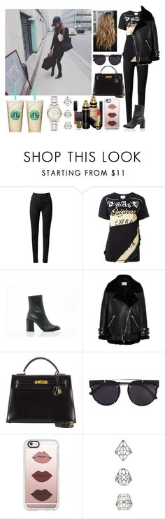 """""""Day in London with Sophia"""" by zandramalik ❤ liked on Polyvore featuring 3.1 Phillip Lim, Dear Frances, Acne Studios, Hermès, Vera Wang, Casetify, Gucci, Topshop and Burberry"""