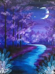 Join us for a Paint Nite event Sat Nov 2018 at 7768 W. Street Middleburg Heights, OH. Purchase your tickets online to reserve a fun night out! Easy Canvas Painting, Diy Painting, Painting & Drawing, Canvas Art, Fantasy Paintings, Nature Paintings, Look Wallpaper, Wallpaper Backgrounds, Wallpapers