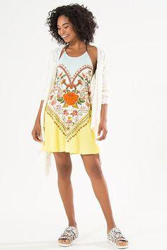 vestido curto canteiro lindo | FARM