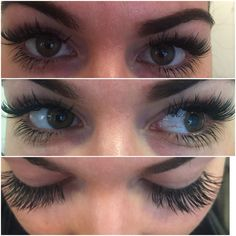 More of long lashes Russisn Lash extensions with bottom lash extensions too