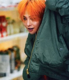 How can someone look so good with orange hair my Lawd Daesung, Vip Bigbang, Big Bang, Choi Seung Hyun, K Pop, Dragons Tumblr, Bigbang Wallpapers, G Dragon Top, Bigbang G Dragon