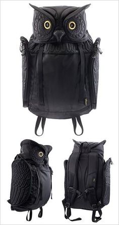 black owl rucksack! I Want This!!!