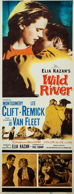 """Wild River"" (1960). Country: United States. Director: Elia Kazan. Cast: Montgomery Clift, Lee Remick, Jo van Fleet, Albert Salmi, Jay C. Flippen"