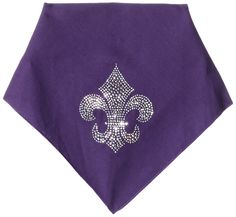 Mirage Pet Products Fleur De Lis Rhinestone Bandana, Small, Purple *** Discover this special dog product, click the image : Dog Apparel and Accessories