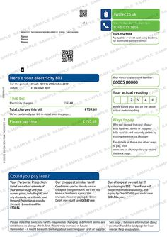 SSE Swalec Utility Bill