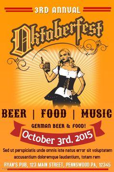 31 best oktoberfest flyer templates images on pinterest flyer