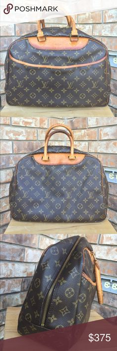 Louis Vuitton Deauville bag Authentic. Date code VI0964. Canvas in good condition, no tear/rip/hole. Leather has patina. Very roomy. Can be used for office job or travel. Price is negotiable so send me REASONABLE offer :) Louis Vuitton Bags Satchels