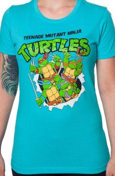 Ladies TMNT Shirt: 80s Cartoons Teenage Mutant Ninja Turtles T-shirt