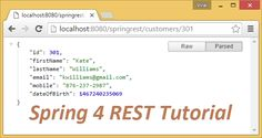 Spring 4 MVC REST Controller Service Example: How to make RESTful Webservice with Spring MVC 4 @RestController. Tutorial on @RestController Spring4 MVC REST