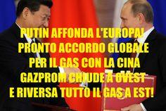 PUTIN SCHIANTA GERMANIA ED EUROPA: PRONTO ACCORDO GLOBALE RUSSIA-CINA PER IL GAS: GAZPROM  APRE A EST E CHIUDE A OVEST!
