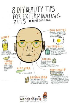 zit remedies... i use the toothpaste one all the time! actually works!