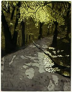 Eva Pietzcker - I love this intaglio print. The colours the composition and the amazing light. S