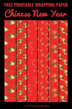 Free printable Chinese New Year wrapping paper in six different designs and four sizes. Great for wrapping small gifts and other paper crafts. New Year Printables, Free Printables, Creative Gift Wrapping, Creative Gifts, Printable Wrapping Paper, Purple Pumpkin, Money Envelopes, Red Envelope, Craft Free