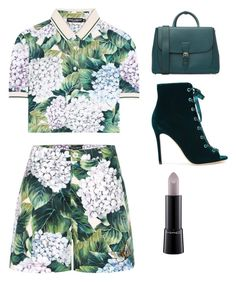 """""""Untitled #847"""" by nikidirectionerforever ❤ liked on Polyvore featuring Burberry, Dolce&Gabbana, Gianvito Rossi and MAC Cosmetics"""
