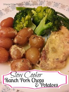 IHeart Hands-on: Slow Cooker Ranch Pork Chops & Potatoes  ☀CQ #crockpot #slowcooker   http://www.pinterest.com/CoronaQueen/crockpot-corona/