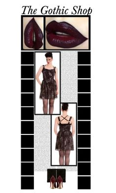 """The Gothic Shop (16)"" by irresistible-livingdeadgirl ❤ liked on Polyvore featuring Hell Bunny, Dune, Miu Miu, Kat Von D, women's clothing, women, female, woman, misses and juniors"