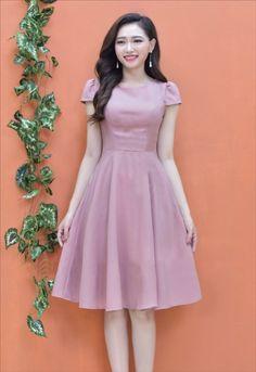 thoitrangdamdep.net - Đầm xòe tay con dễ thương màu hồng