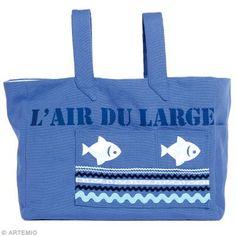DIY Couture : Réaliser un sac de plage bleu