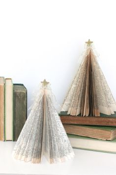 Vintage Book CHRISTMAS TREE /// Ready to Ship by HiButterfly