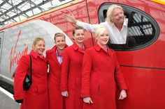 Richard Branson #starpulse Pictures & Photos - Sir Richard Branson waves from the cockpit of one of his Virgin trains while arriving in Liverpool for the Global Entrepreneurship Congress 2012