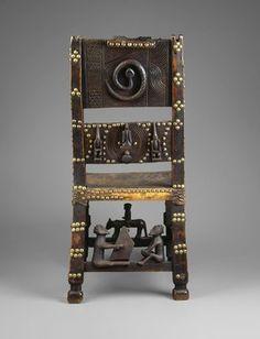 Chokwe. Presidente del jefe , del siglo 19. Aleación de cobre, piel animal…