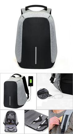15 inch Laptop Backpack USB Charging Anti Theft Backpack Men Travel Backpack  Waterproof School Bag Male d796eb0f95754
